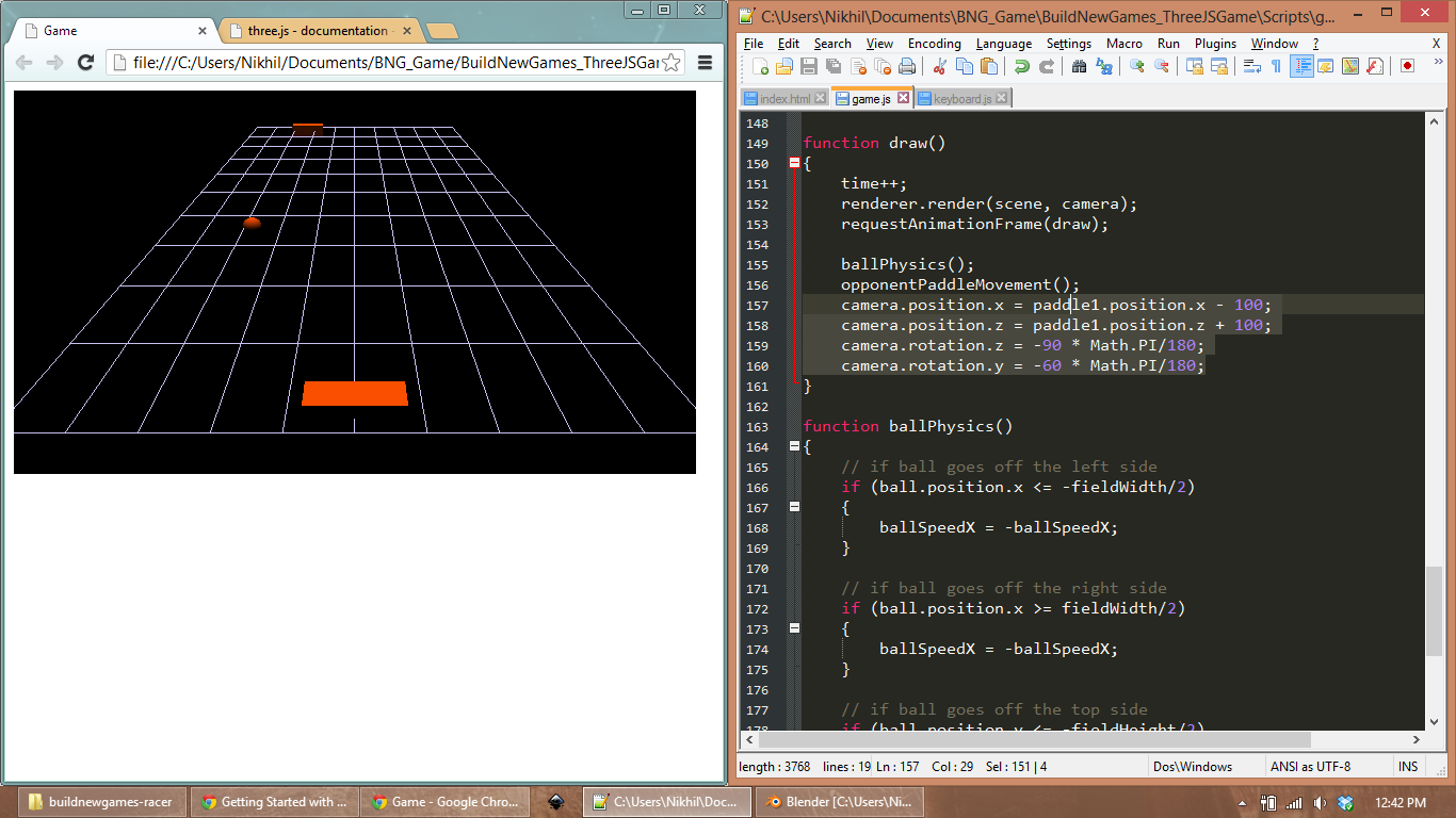 Drawing Lines Webgl : Creating a d game with three js and webgl build new games